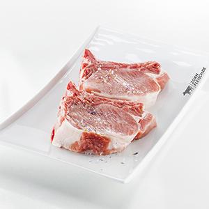 Schweinekotelett v. Mohrenköpfle 2x ca.300g